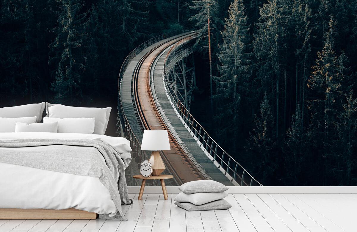 Wallpaper Une vieille voie ferrée abandonnée 3