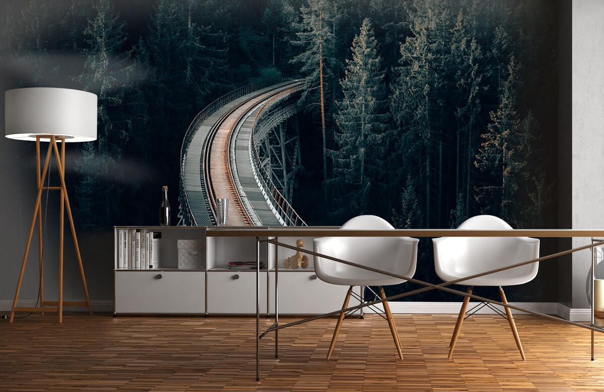 Wallpaper Une vieille voie ferrée abandonnée 1