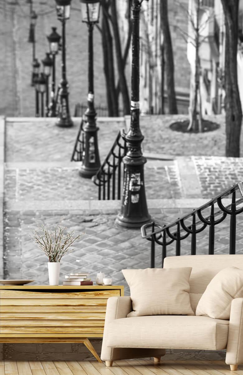 Les célèbres escaliers de Montmartre 1