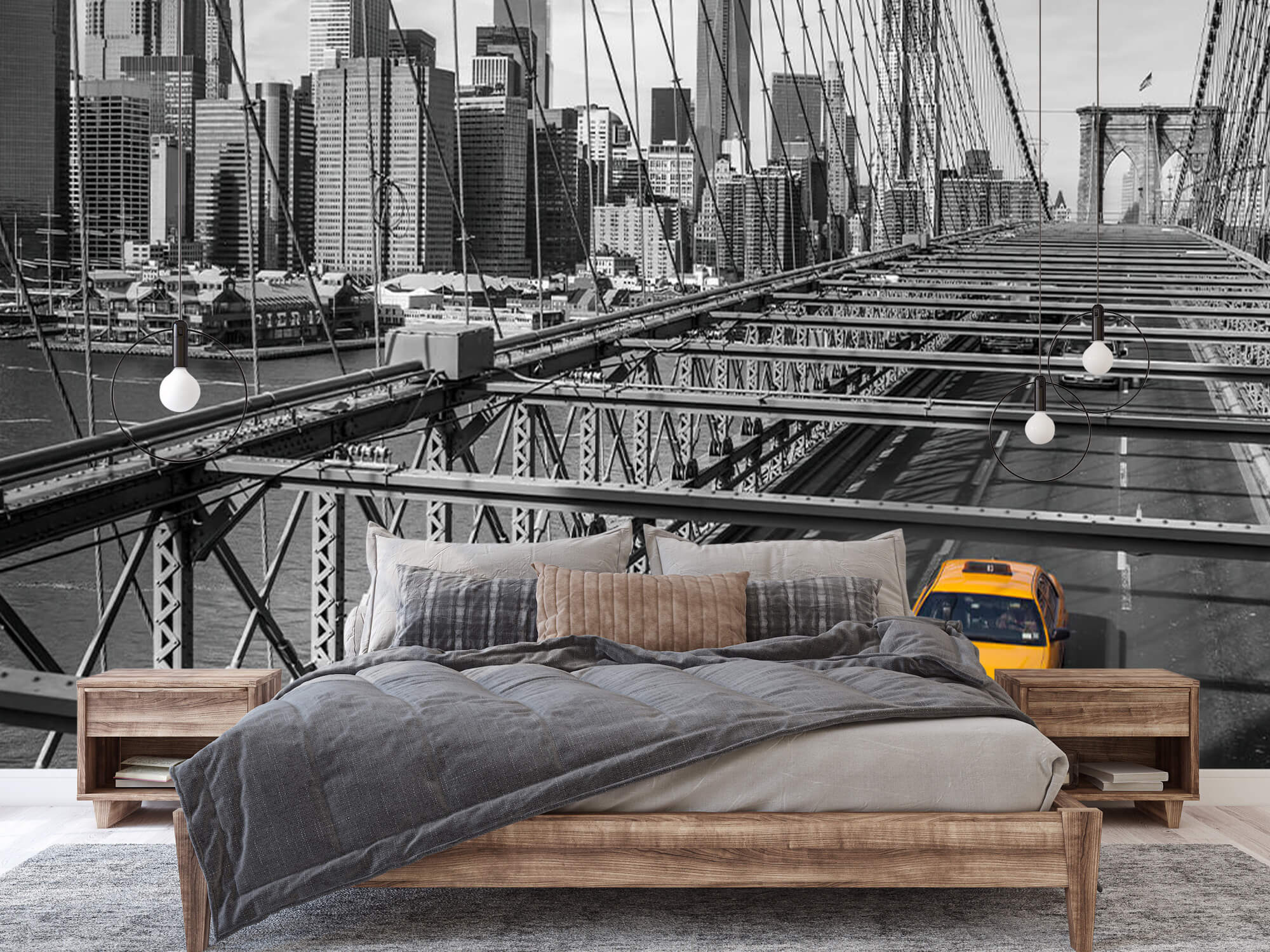 Un taxi sur le pont de Brooklyn 5