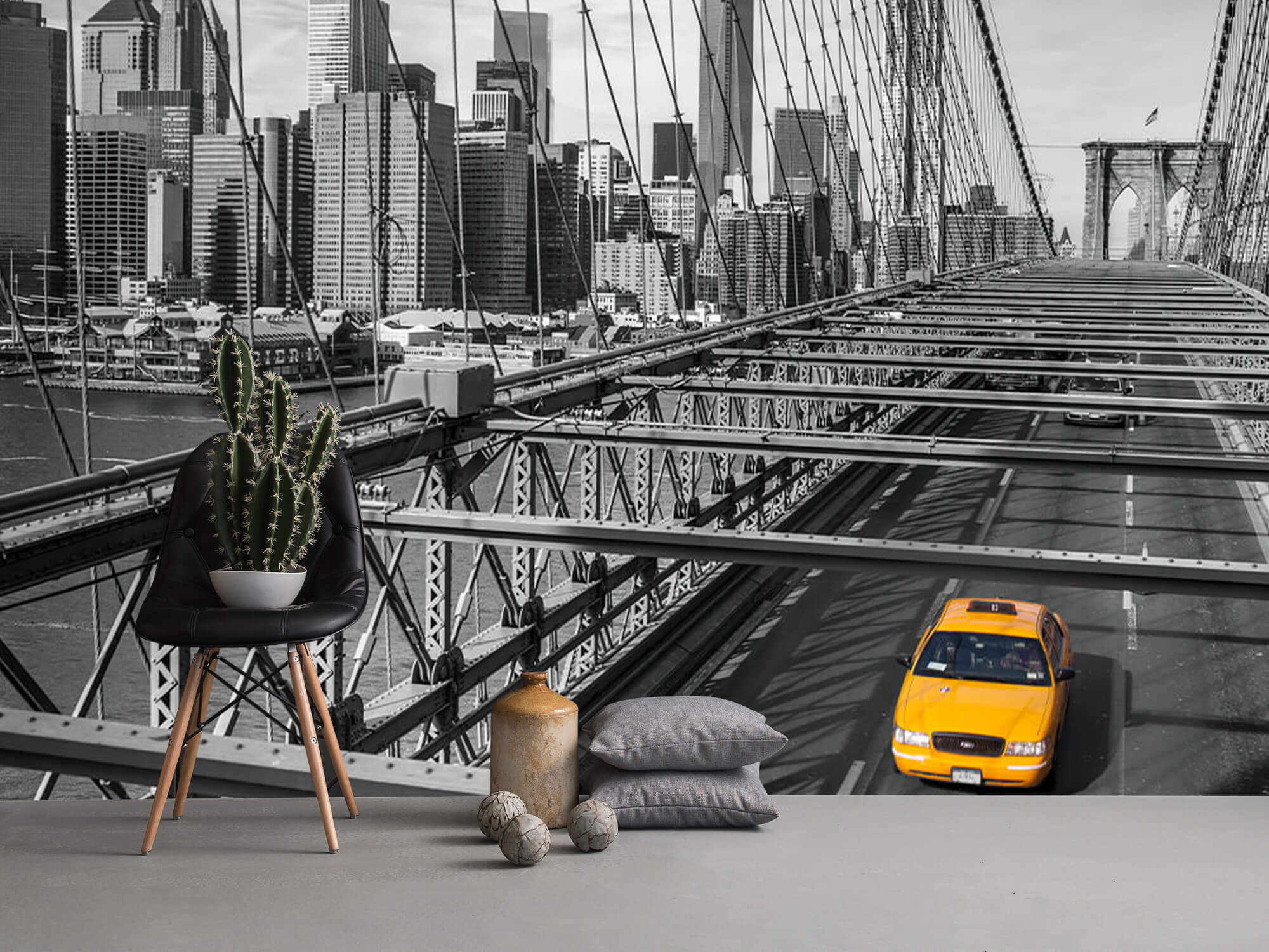 Un taxi sur le pont de Brooklyn 10