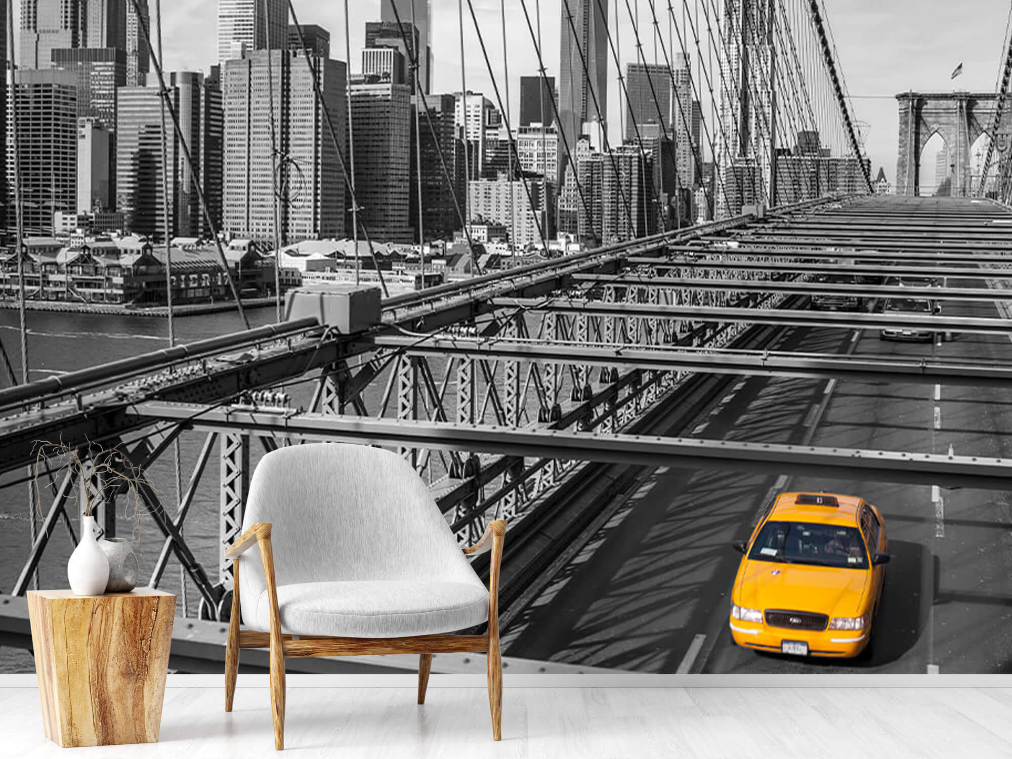 Un taxi sur le pont de Brooklyn 2