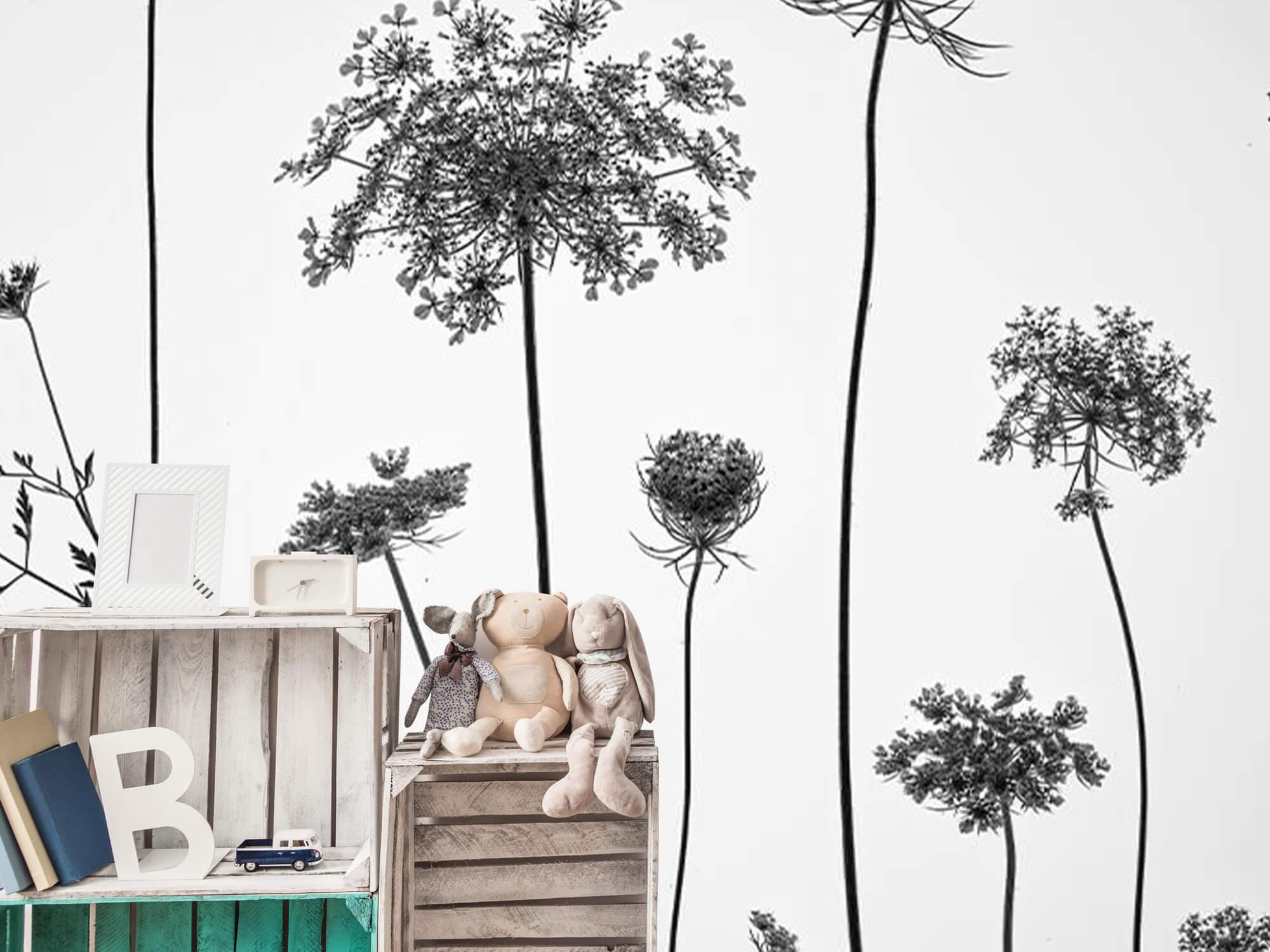 Cerfeuil sauvage en noir et blanc 17