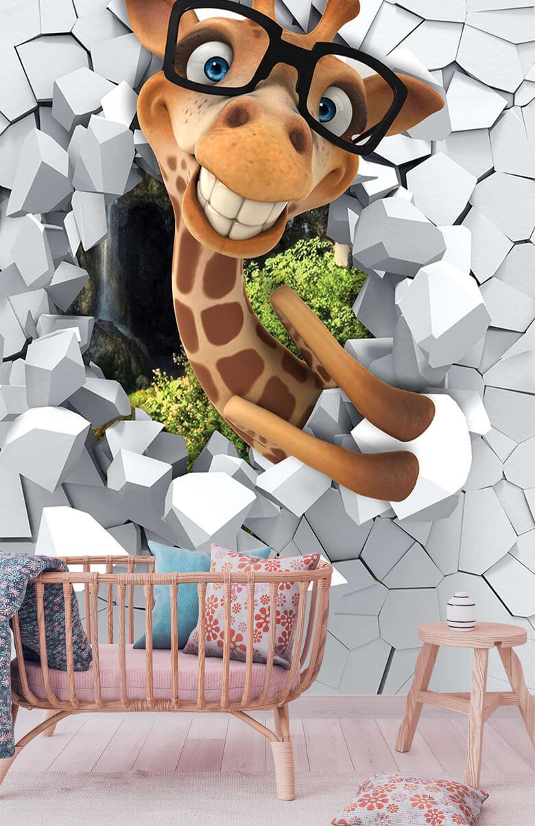 wallpaper Drôle de girafe 3