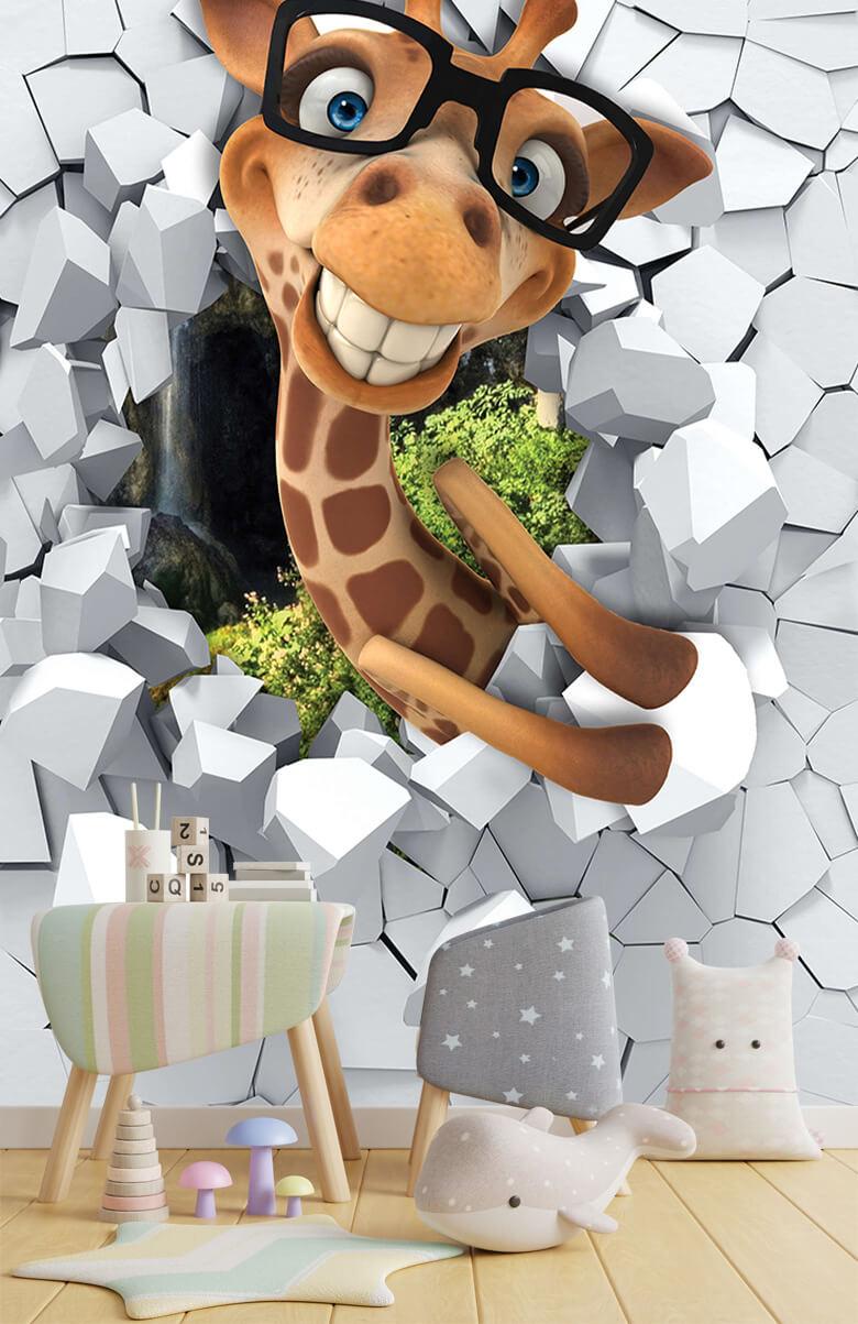 wallpaper Drôle de girafe 4