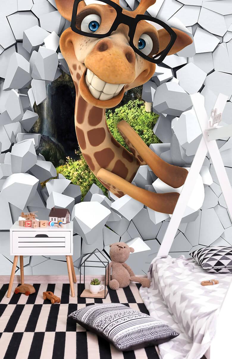 wallpaper Drôle de girafe 5
