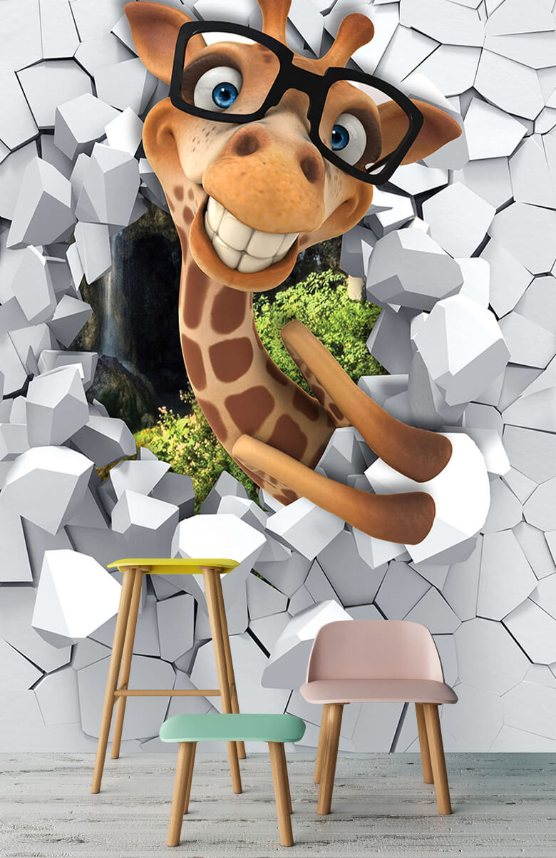 wallpaper Drôle de girafe 6