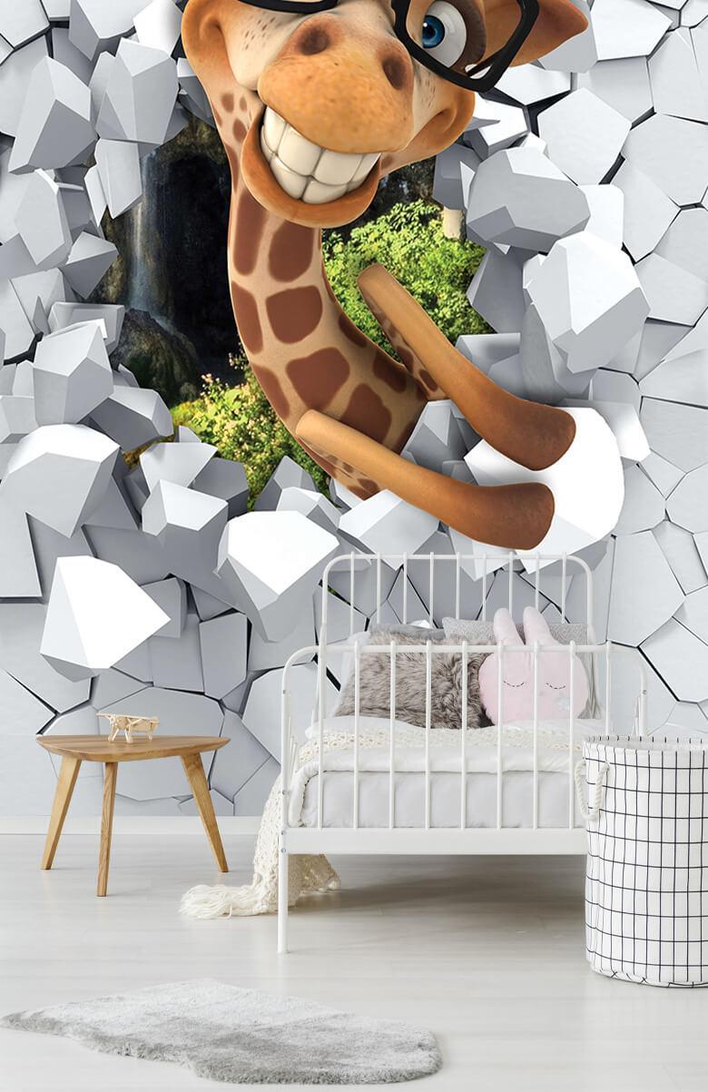 wallpaper Drôle de girafe 7