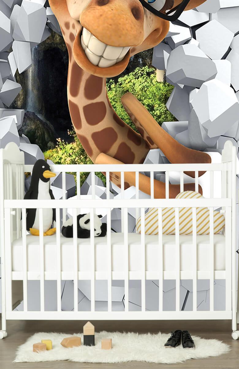 wallpaper Drôle de girafe 8