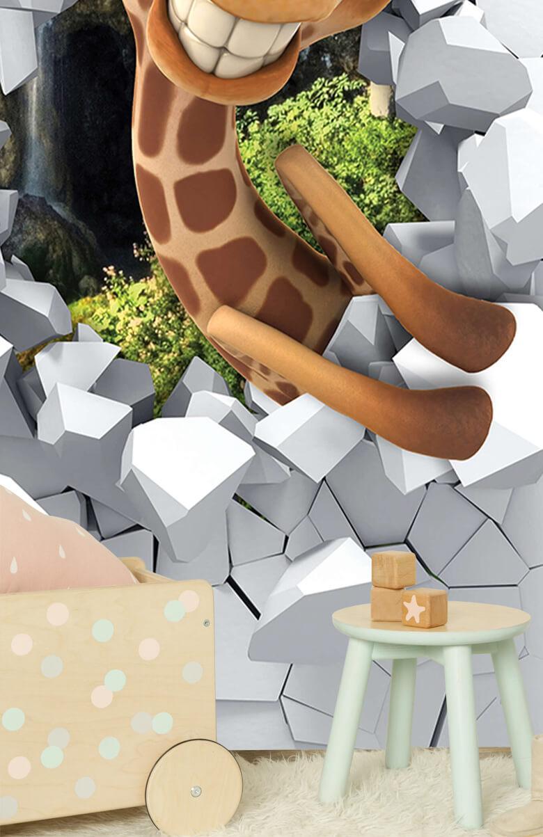 wallpaper Drôle de girafe 9