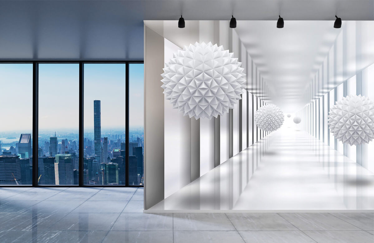 wallpaper Couloir futuriste 2