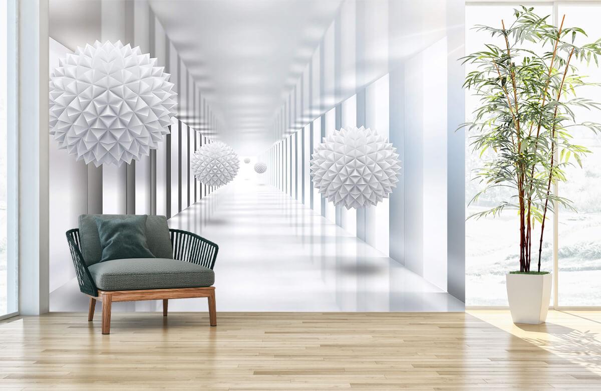 wallpaper Couloir futuriste 3