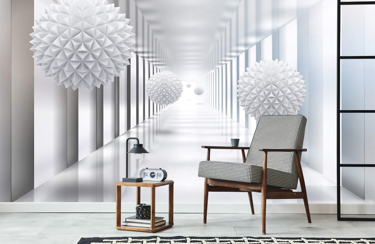 wallpaper Couloir futuriste 1