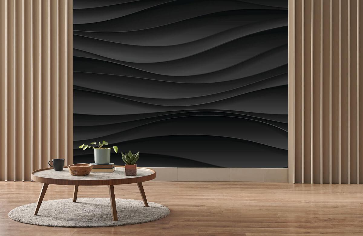 wallpaper Lignes d'onde noires 3