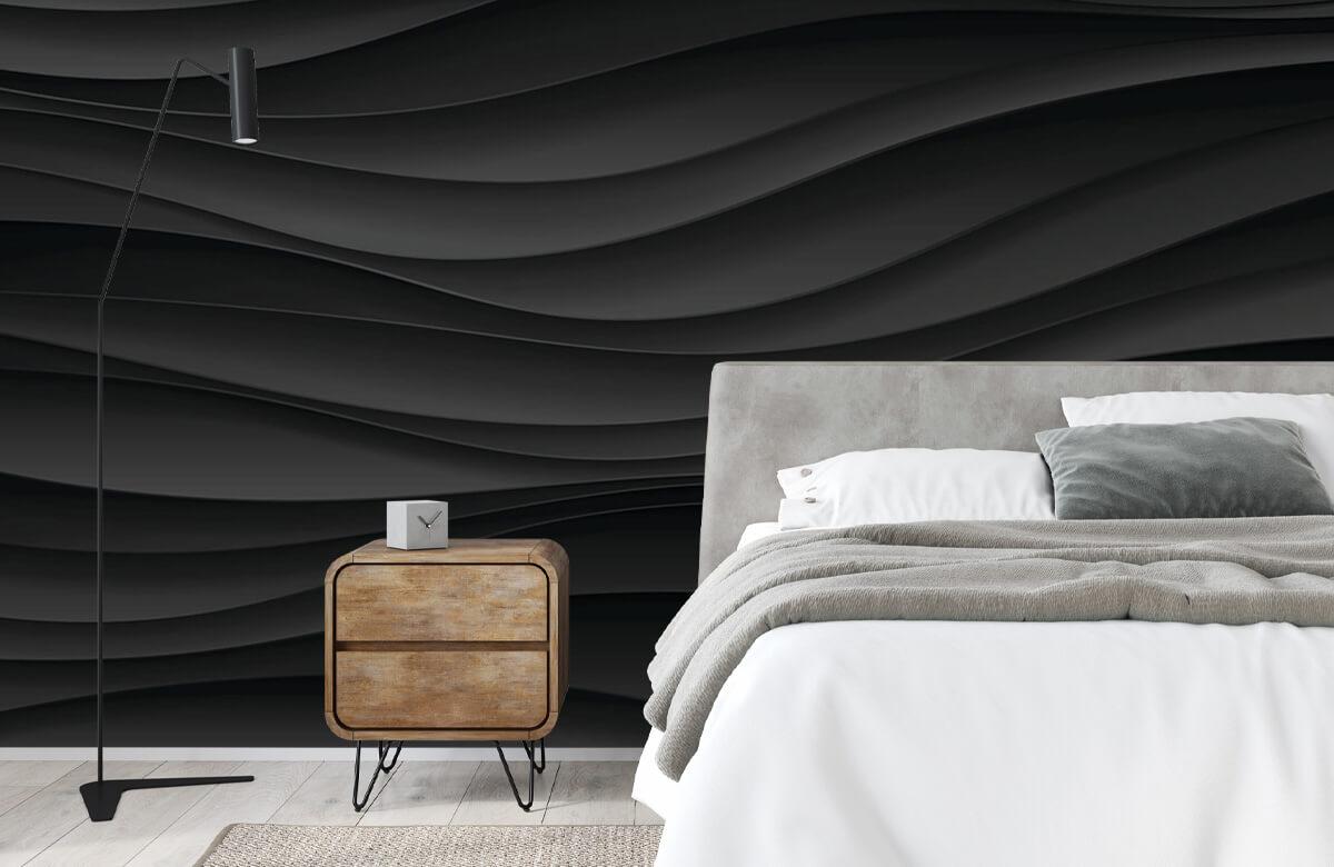 wallpaper Lignes d'onde noires 4