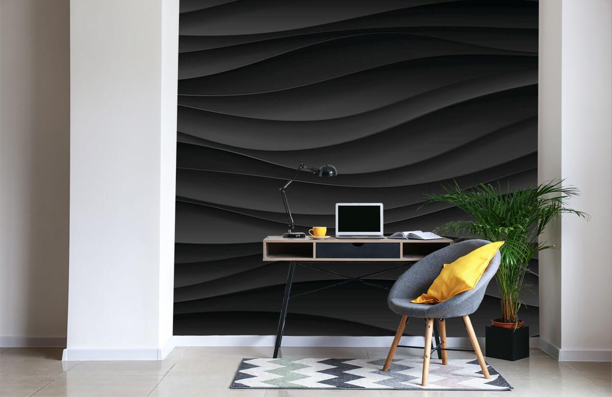wallpaper Lignes d'onde noires 5