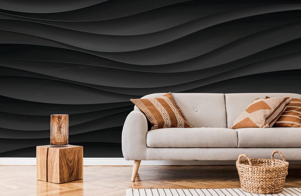wallpaper Lignes d'onde noires 7