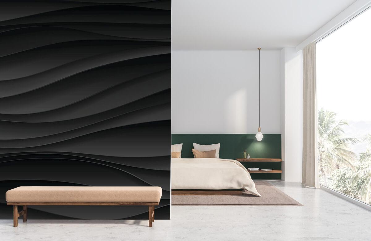 wallpaper Lignes d'onde noires 1