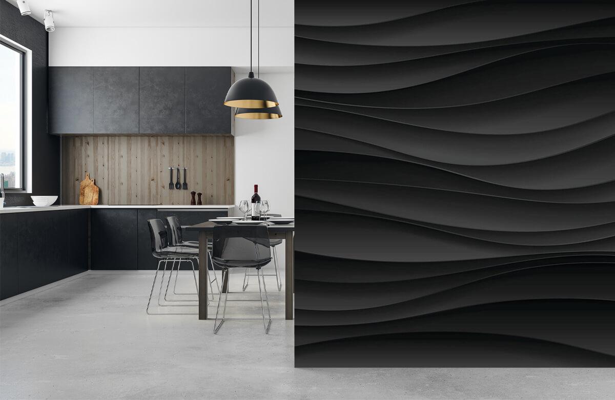 wallpaper Lignes d'onde noires 9