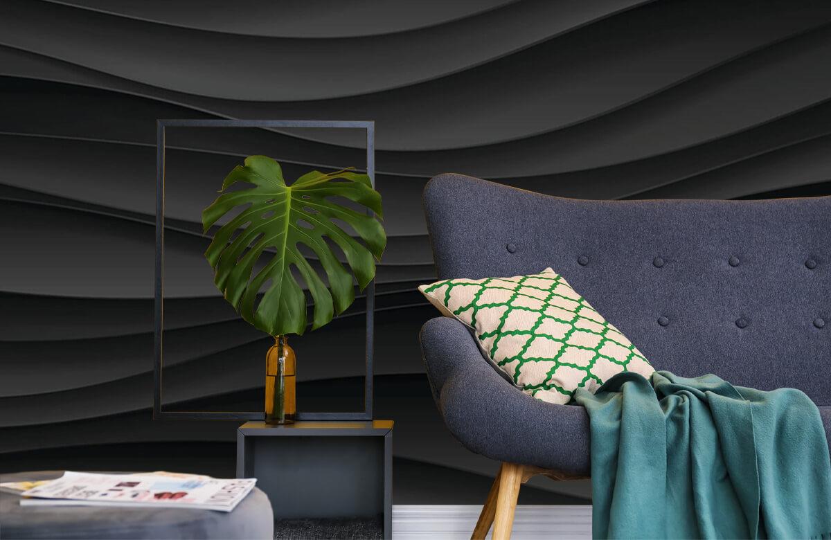 wallpaper Lignes d'onde noires 10