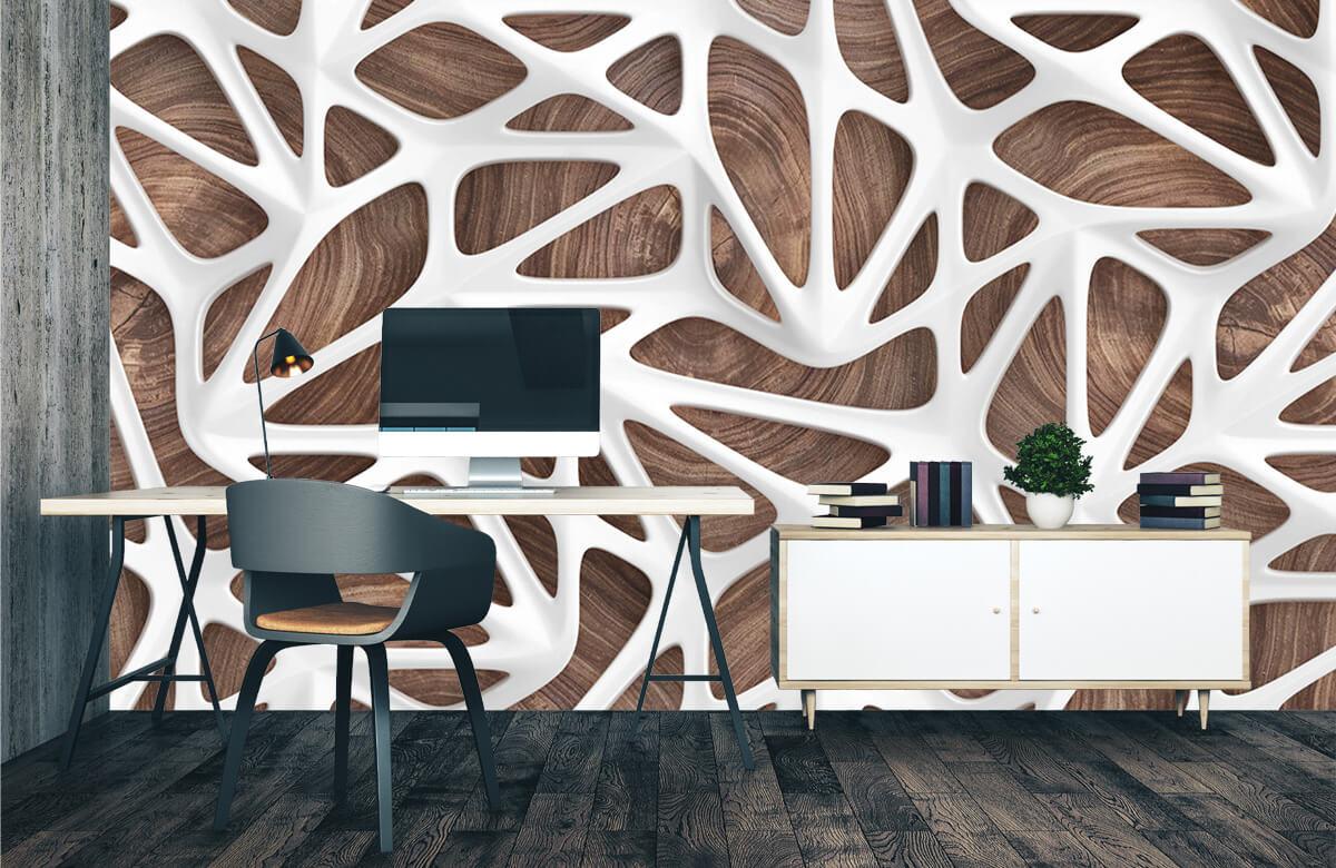 wallpaper Motif blanc sur bois 2