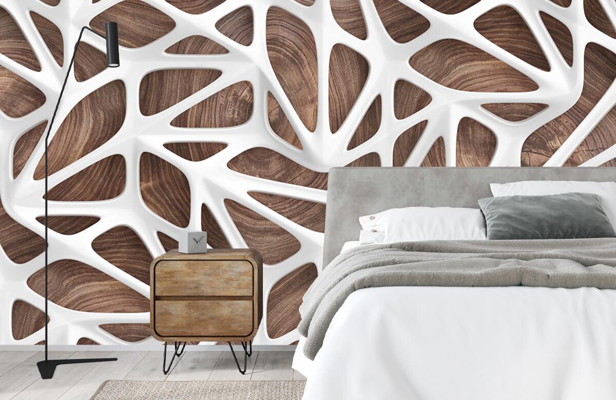 wallpaper Motif blanc sur bois 4