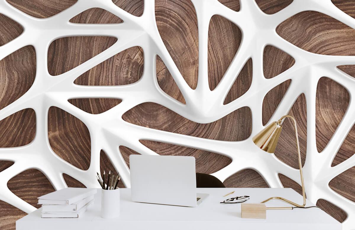 wallpaper Motif blanc sur bois 7