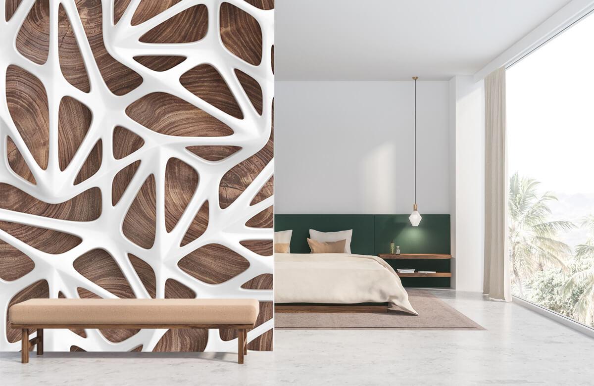 wallpaper Motif blanc sur bois 8