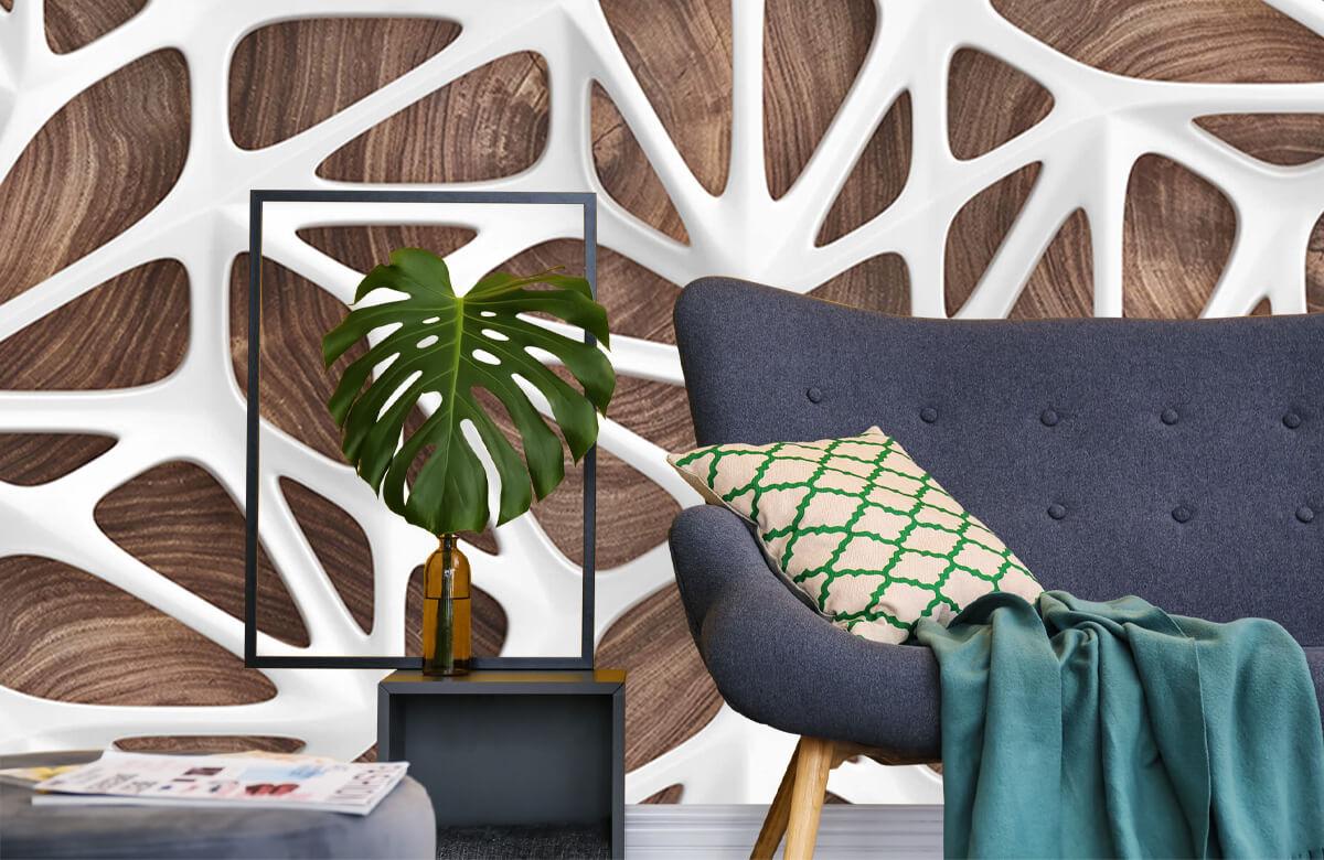 wallpaper Motif blanc sur bois 10