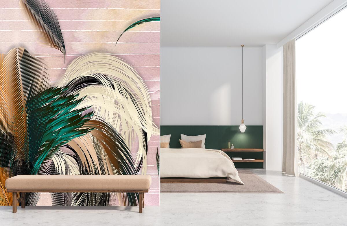 Wallpaper Plumes en forme de fleur 9