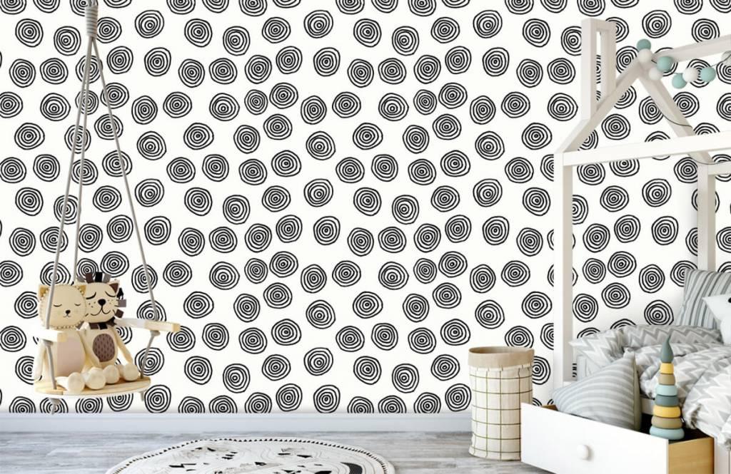 Abstrait - Cercles abstraits en noir et blanc - Salle de Loisirs 4