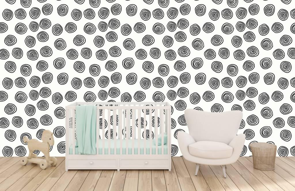 Abstrait - Cercles abstraits en noir et blanc - Salle de Loisirs 5