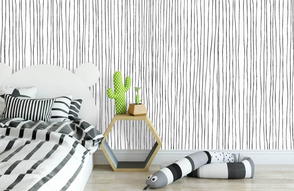Abstrait - Lignes abstraites en noir et blanc - Entrepôt 2