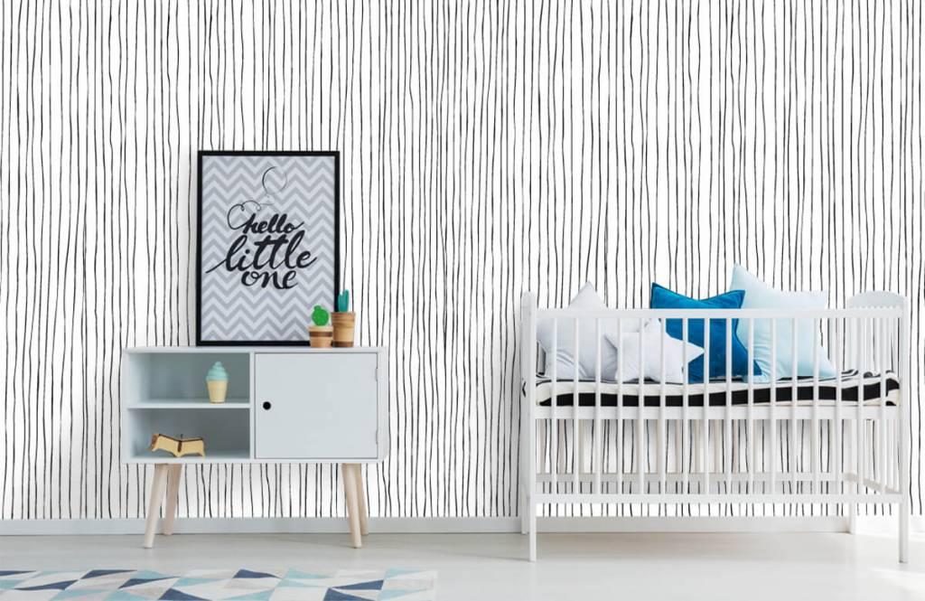 Abstrait - Lignes abstraites en noir et blanc - Entrepôt 6